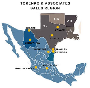 Torenko and Associates Sales and Service Regions SMT and
